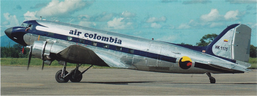 US 1943-15966 C-47A 2008orLater to HK-1175 Villavicencio PeterGrallaPhoto.jpg