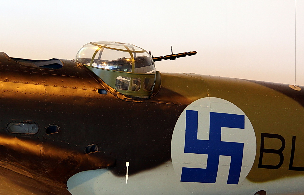 Dorsal gun turret of a Blenheim with Finnish Air Force markings.jpg
