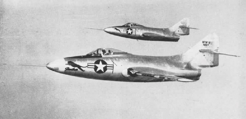 XF9F-2 and XF9F-3 prototypes in 1948.jpg