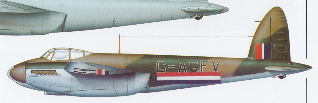 UK2 DZ411 DH MosquitoPRMkIV 1942-12orLater to G-AGFV.jpg