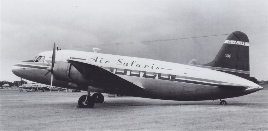 UK2 WZ306 Vickers Viking 1960-06 to G-AJFT Gatwick FlightColl.jpg