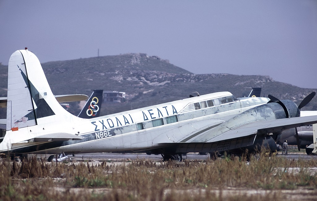 Douglas B-23 converted to executive transport role at Athens (Hellenikon) Airport in 1973.jpg