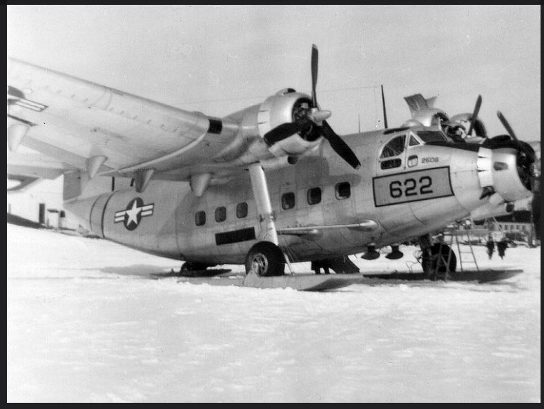YC-125 Raider on the ice near Kenora Water Aerodrome 1950.JPG