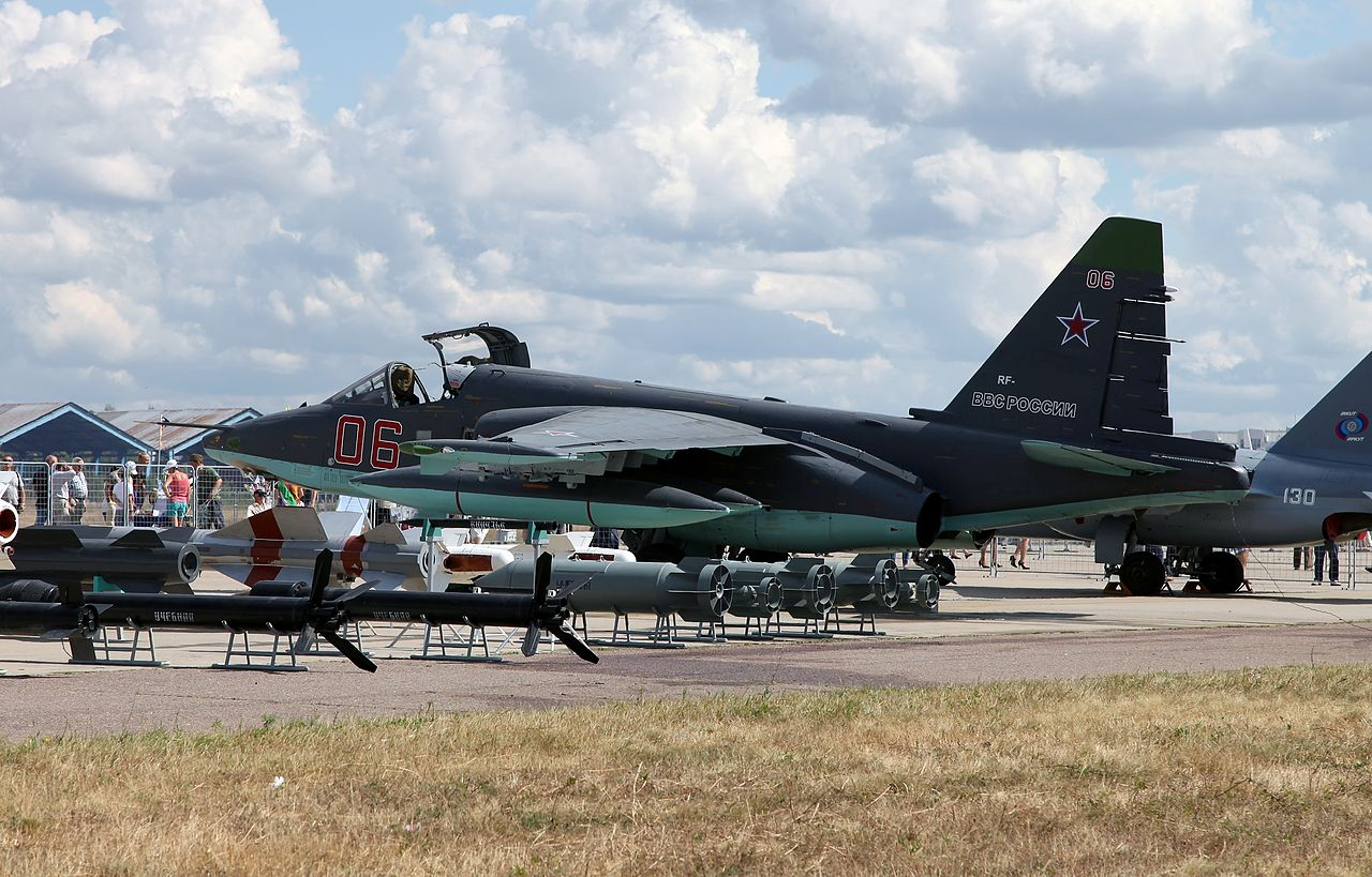 A Sukhoi Su-25SM at the Celebration of the 100th anniversary of Russian Air Force.jpg